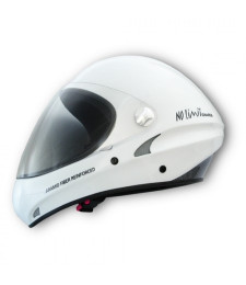 Casco No Limit Blanco con visera transparente - Charly