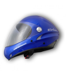 Casco No Limit Azul o gris Metalico con visera transparente - Charly
