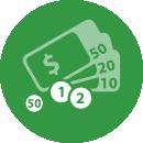 In Cash in a Travel Customs Refund Point